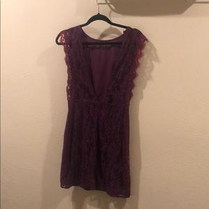 Urban outfitters purple lace dress